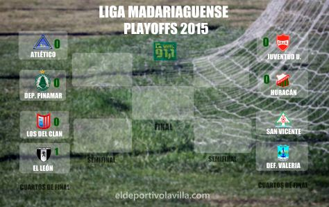 LIga Madariaguense  - Playoffs 2015 - CUARTOS resultados ida