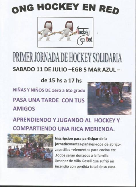 LA ONG Hockey en Red tendrá su primera jornada en Mar Azul