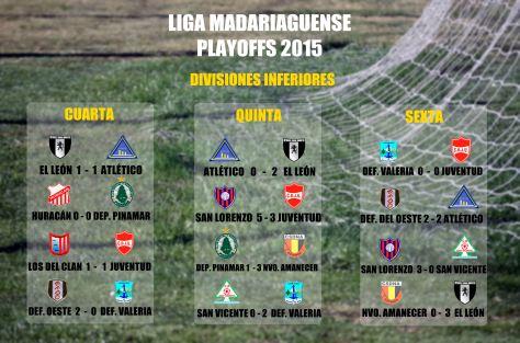 LIga Madariaguense  - Playoffs 2015 - INFERIORES