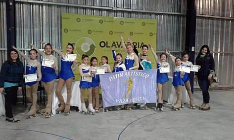 Dos campeones provinciales y muy buenos resultados de los patinadores geselinos en Olavarria