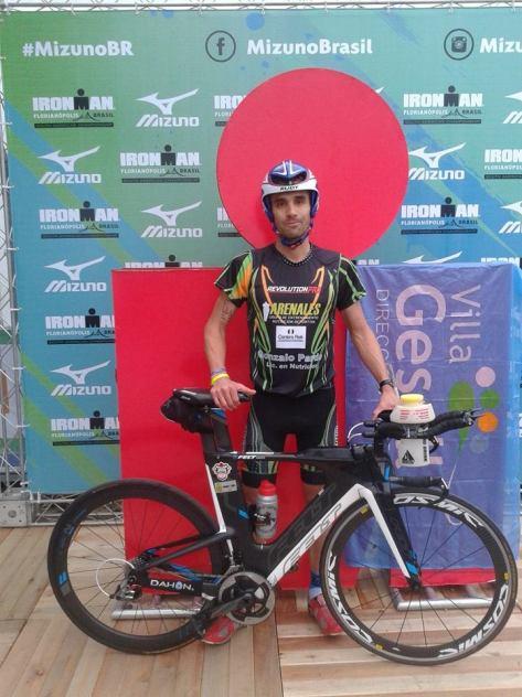 Pardo participó del tercer IM de Florianópolis consecutivo, pero en esta oportunidad no pudo arribar a la meta.