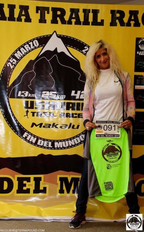 Elba Aguirre cumplió con creces el desafío Ushuaia Trail Race de 42 kilómetros.