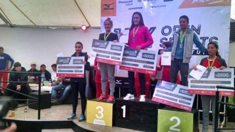 Keren Paez terminó quinta en la general de damas 15k. Brian Gauna ganó en los 5k.jpg