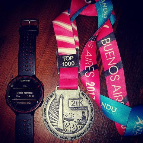 La medalla de Monje tras su gran experiencia en los 21k porteños.