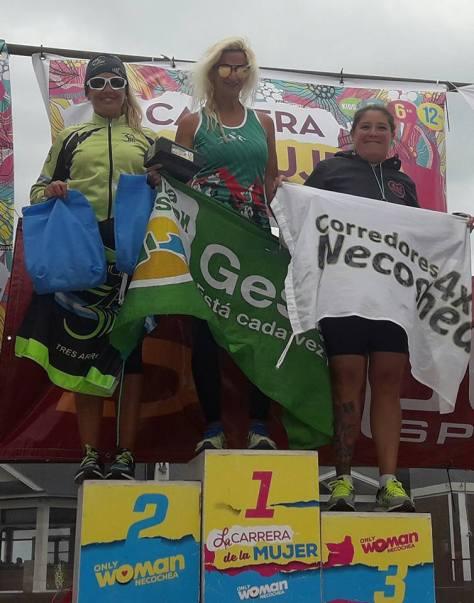 Elba Aguirre, en lo más alto del podio en Necochea.jpg